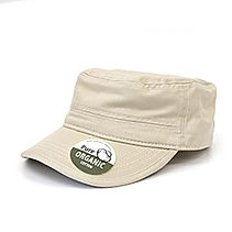 Organic Cotton Army Caps washed sand BW7