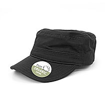 Organic Cotton Army Caps washed black BW