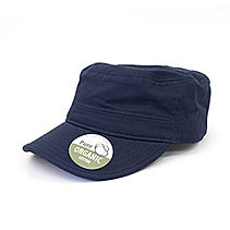 Organic Cotton Army Caps washed navy BW7