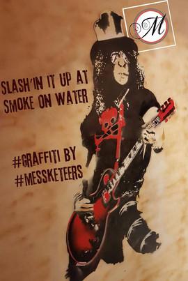 Graffiti at Smoke On Water