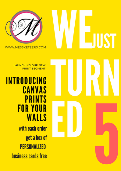 Introducing Canvas prints on our 5th Birthday