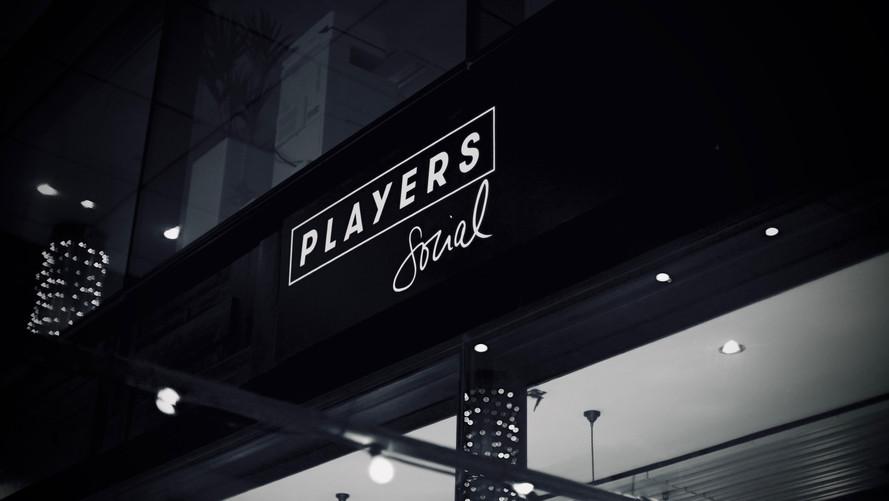 Logo design, custom font design for Players Social Spitalfields