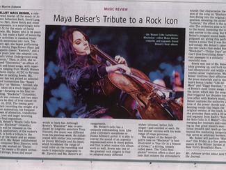 """WSJ Review of """"Bowie Cello Symphonic: Blackstar"""""""