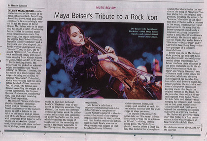 "WSJ Review of ""Bowie Cello Symphonic: Blackstar"""
