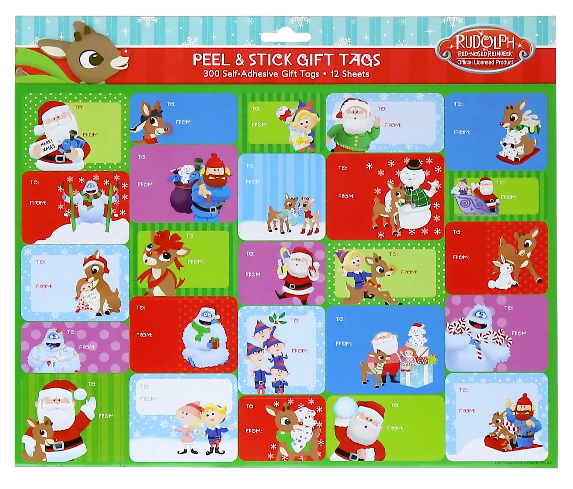 Rudolph Gift Tag Labels