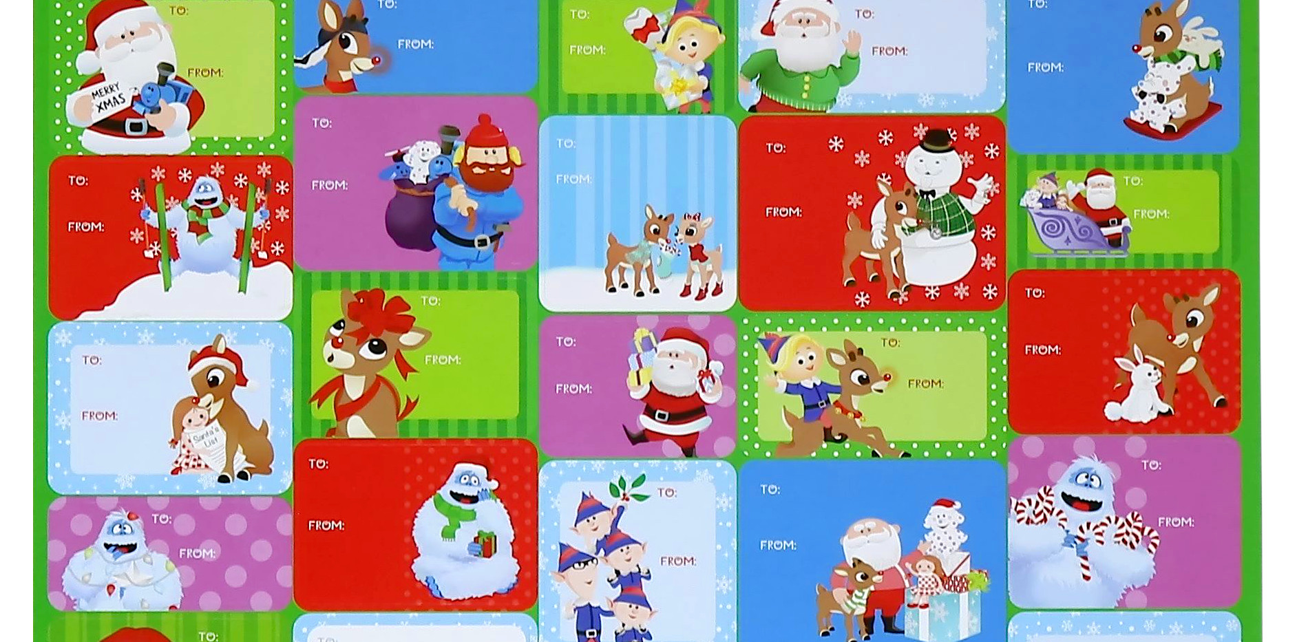 Rudolph Gift Labels