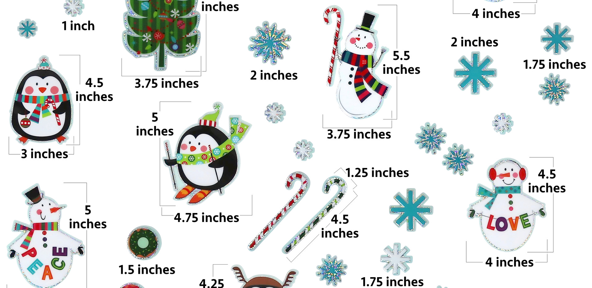 3D Christmas Window Stickers Guide
