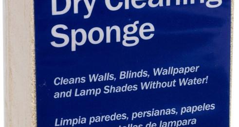 dry cleaning sponge label