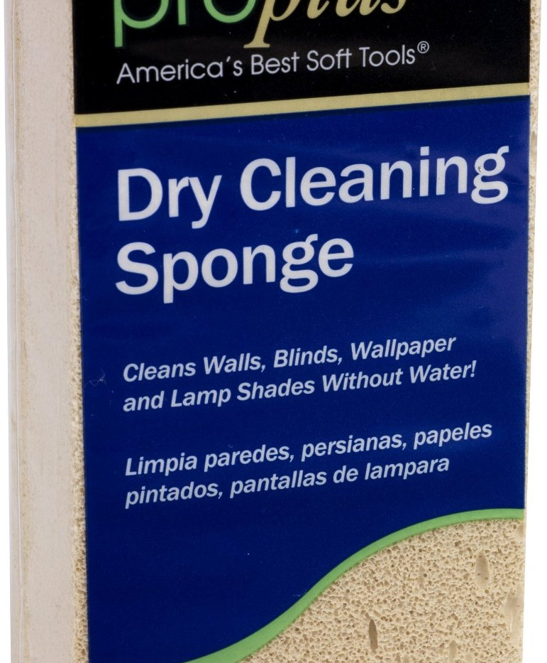 dry cleaning sponge label