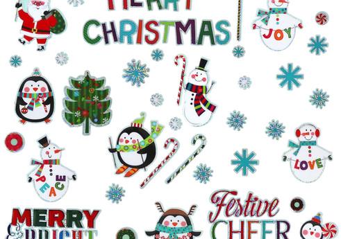 3D Christmas Window Sticker