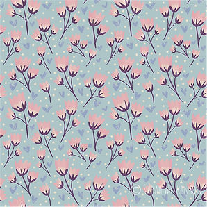 Blushing Spring Flowers silkyrosedesign.