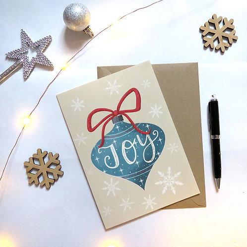 Joy Decoration Christmas Card A5