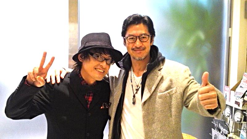 上京直後からずっと兄貴分、俳優の冨家規政さんと。