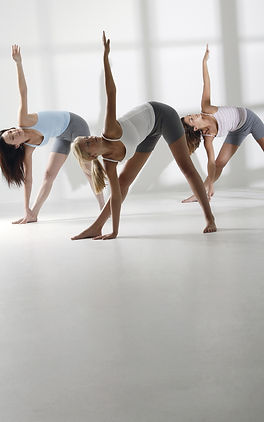Ladies performing stretches Pilates by Fay French Studio Arnold Nottingham