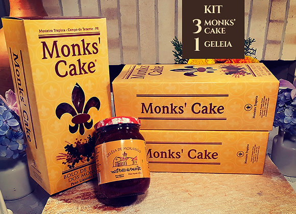 Kit 3 Monks' Cake + 1 geleia