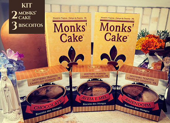 Kit com 2 Monks' Cake + 3 biscoitos