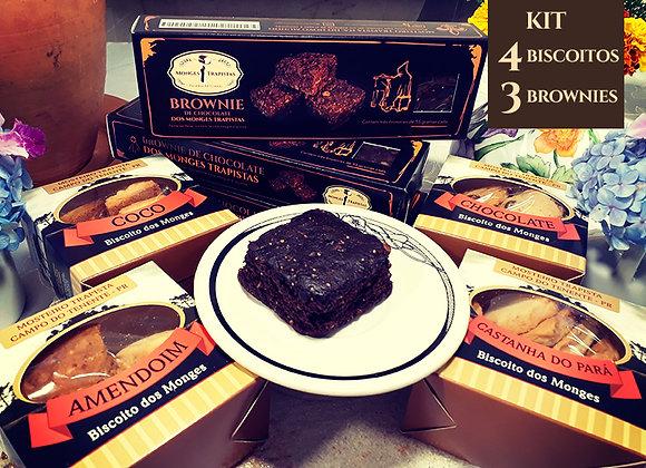 4 Biscoitos+3 Brownies de Chocolate
