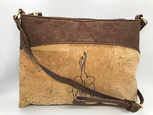Light brown purse with elephants