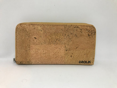 Soft cork long wallet