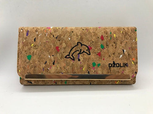 Cork wallet with dolphin