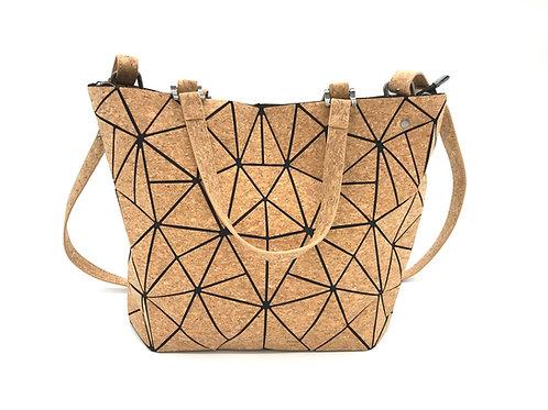Cork geometric purse