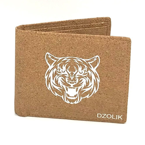 Men´s trifold wallet processed cork