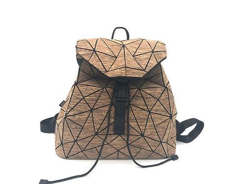 Big geometric bakpack dark brown