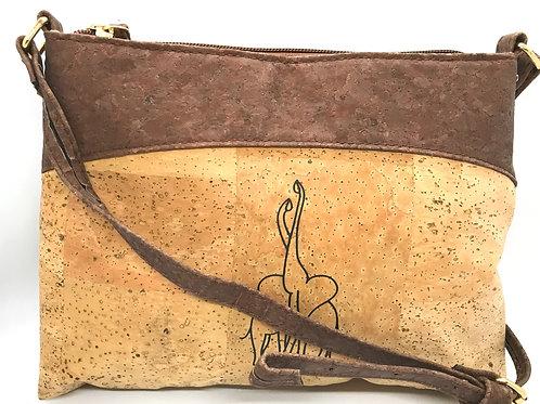 Light brown purse with elephants