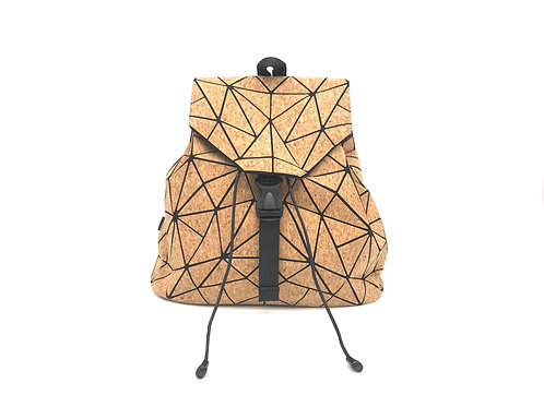 Cork geometric backpack