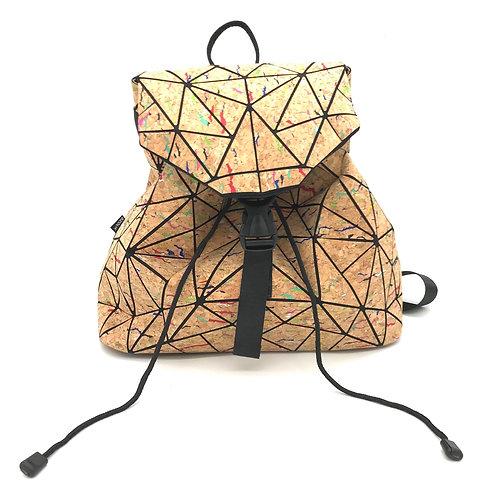Geometric backpack rainbow
