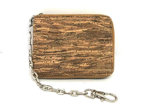 Men's wallet with zipper closure