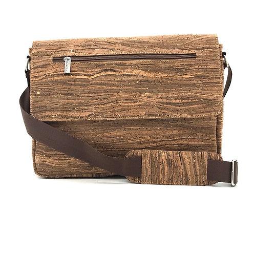 "Dark brown 14"" messenger bag"