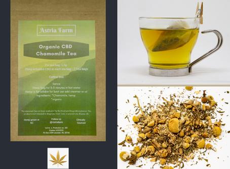 Highlight: ASTRIA FARM Organic CBD Chamomile Tea!