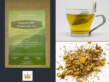 Highlight: ASTRIA FARM Organic CBD Chamomile Tea!