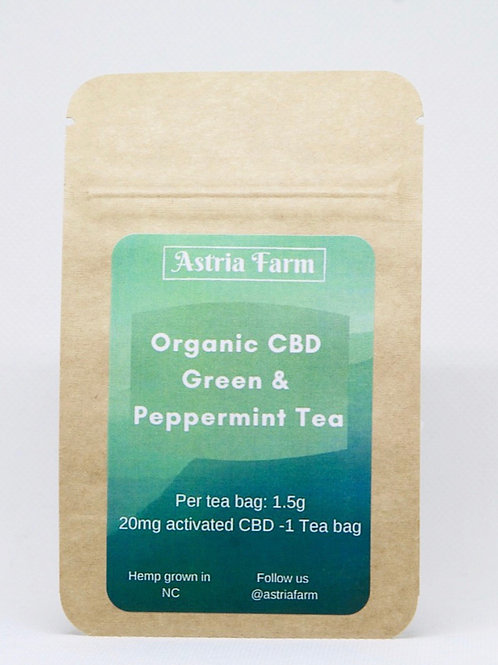 CBD Organic Green Tea with Peppermint - Single serving