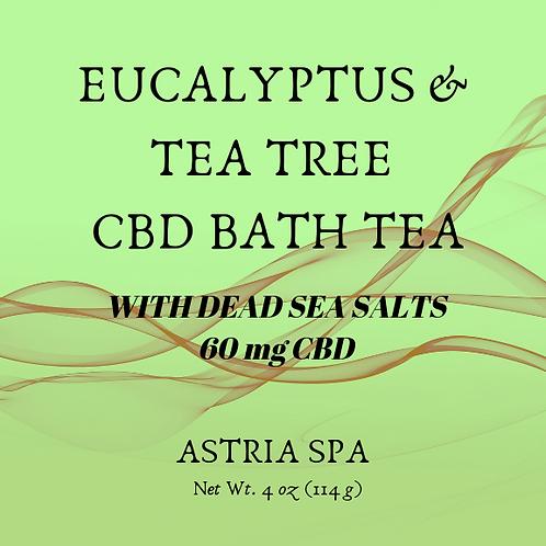 Eucalyptus & Tree Tea  60 mg. CBD Bath Tea -  Net Wt. 4 oz (112