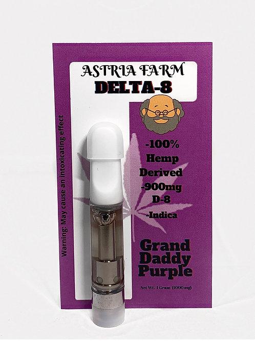 Grand Daddy Purple 900 mg. Delta-8 Vape Cartridge