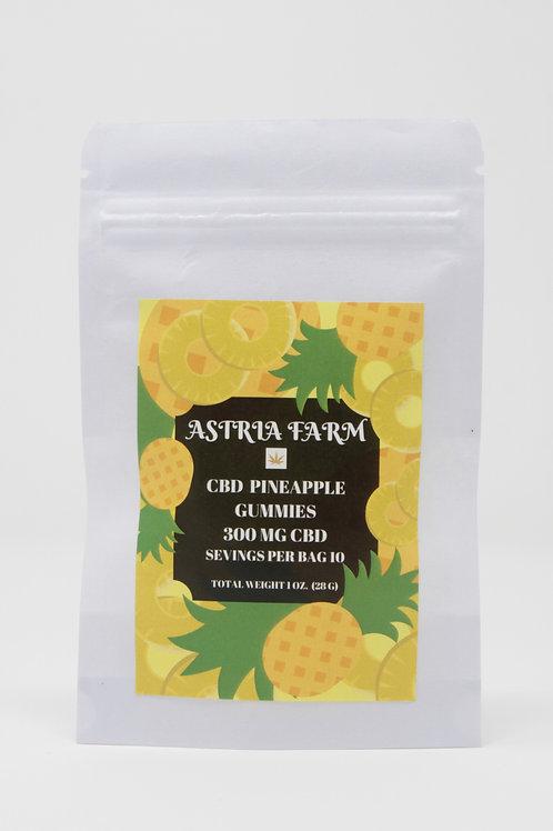 300 mg CBD Pineapple Gummies - 10 in each pouch