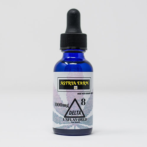 Delta 8 Tincture 1000mg Unflavored