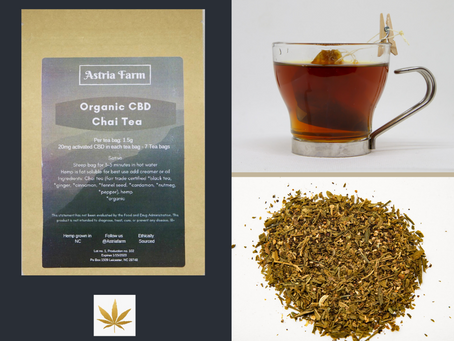 Highlight:  Astria Farm Organic CBD Chai Tea