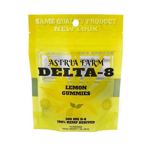 Delta-8 Lemon Gummies - 300mg. 10 in each pouch