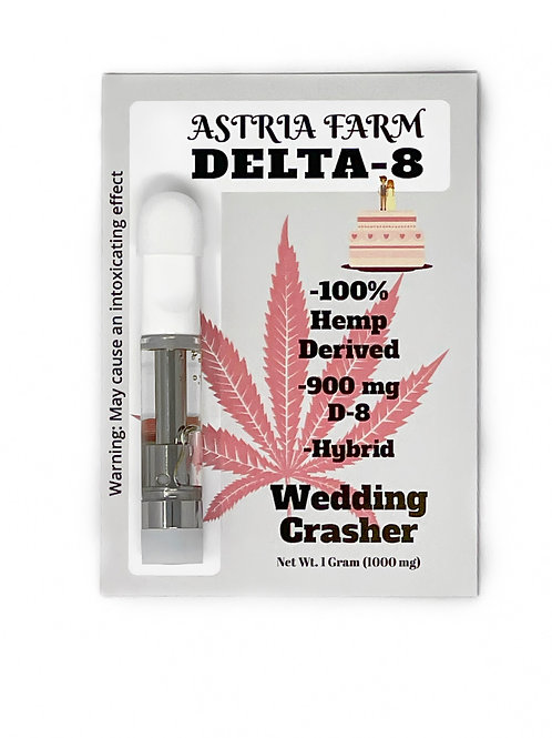 Wedding Crasher 900 mg. Delta-8 Vape Cartridge
