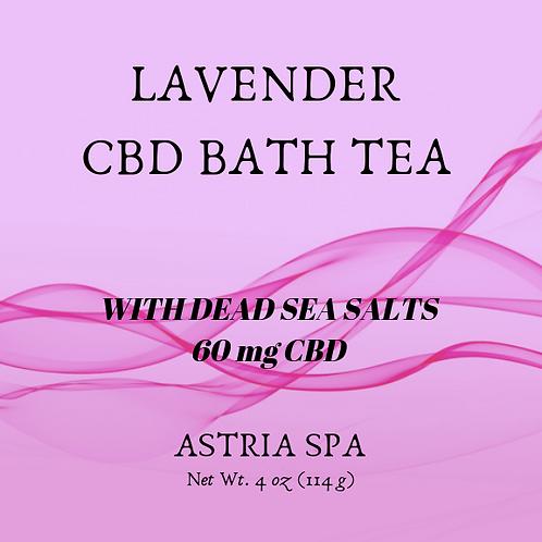 Lavender 60 mg. CBD Bath Tea -  Net Wt. 4 oz (112 g)