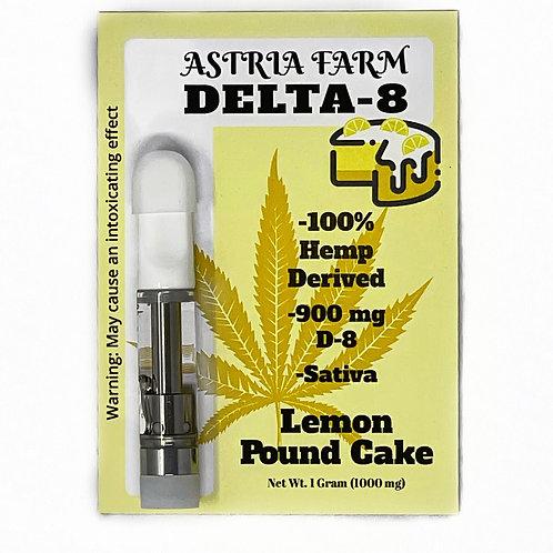 Lemon Pound Cake 900 mg. Delta-8 Vape Cartage