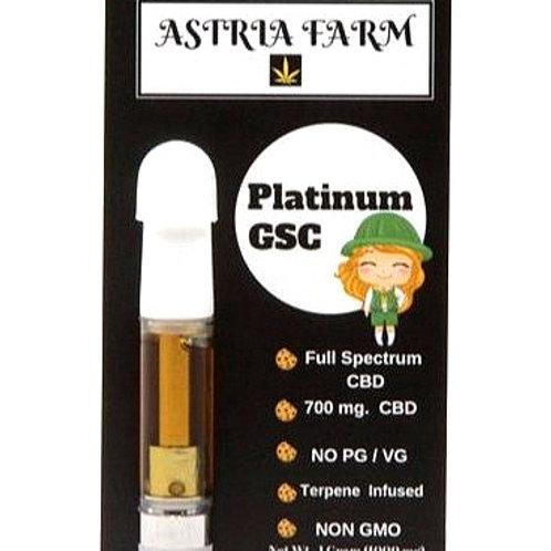 Platinum GSC 700 mg. CBD Vape Cartage