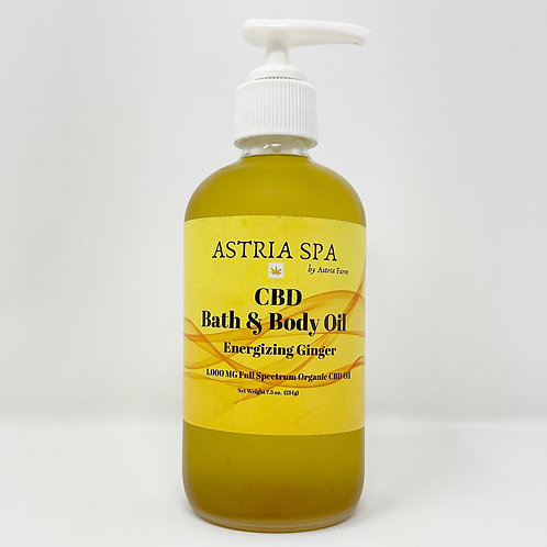 Energizing Ginger Bath and Body Oil 1,000 MG CBD