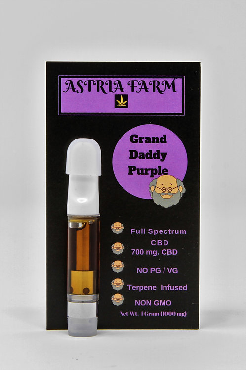 Grand Daddy Purple 700 mg. CBD Vape Cartridge
