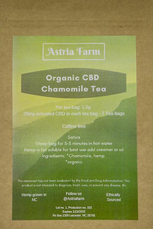 Organic CBD Chamomile Tea - 7 Servings Per Pouch