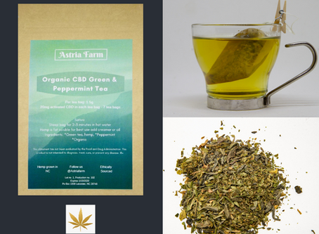 HIGHLIGHT: ASTRIA FARM'S Organic CBD Green Tea with Peppermint
