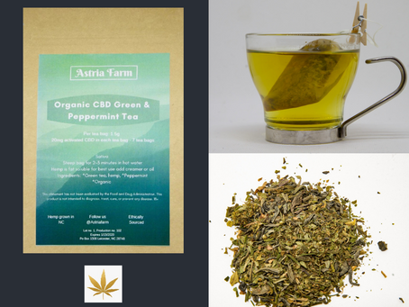 HIGHLIGHT: ASTRIA FARM'S Organic CBD Green Tea with Peppermint